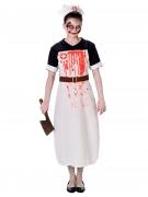 Horror-Krankenschwester Halloween-Damenkostüm schwarz-rot-weiss