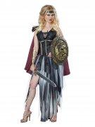 Sexy Gladiatorin Antike Damenkostüm schwarz-burgund