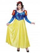 Schneewittchen Plus Size Damenkostüm Märchen gelb-blau
