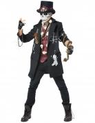 Voodoo Priester Halloweenkostüm Zauberer schwarz-burgund