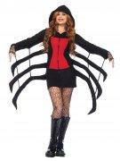 Schwarze Witwe Halloween-Damenkostüm Spinne schwarz-rot