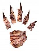 Schaurige Horror Monster-Hand Halloween-Tattoo bunt
