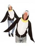 Pinguin Kapuzen-Hoodie Kostüm-Pullover schwarz-weiss-gelb