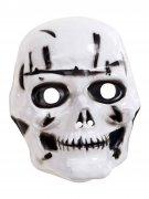 Skelett-Maske Halloween-Maske für Kinder weiss-schwarz