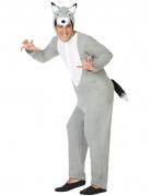 Gefährlicher Wolf Jumpsuit-Kostüm Tierkostüm grau