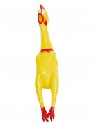 Gummihuhn Scherzartikel gelb-rot 40x8,5x8cm