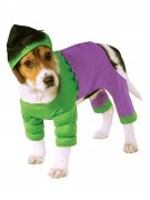 Marvel Hulk Hundekostüm Lizenzware grün-lila