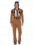 Indianer-Kostüm Wildwest für Herren beige-braun