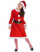 Weihnachtsfrau Kostüm für Kinder rot-weiss