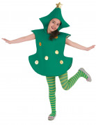 Süßes Weihnachtsbaum-Kostüm für Mädchen grün-gold