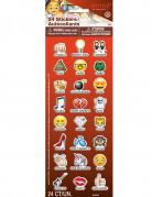 Emoji™ Aufkleber selbstklebend 24 Stück bunt
