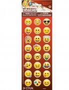 24 selbstklebende Sticker Emoji™ bunt