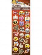 Emoji™-Sticker selbstklebend 24 Stück bunt
