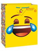 Geschenktüte Emoji™ gelb-bunt 32x26x13,5cm