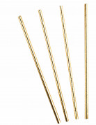 10 Strohhalme goldmetallic