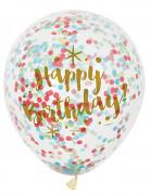 Geburtstags-Luftballons Konfetti-Motiv 6 Stück