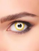Elfen-Kontaktlinsen Fantasy-Kontaktlinsen gelb-weiss