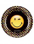 Emoticons™-Pappteller 8 Stück 23cm