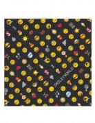 Papierservietten Emoticons™ 20 Stück schwarz-gelb-bunt