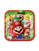 Kleine Pappteller Super Mario™ 8 Stück bunt 18cm
