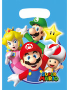 Super Mario™-Geschenkbeutel Geschenktüten Nintendo-Lizenzartikel 8 Stück blau-bunt 23x16,5cm