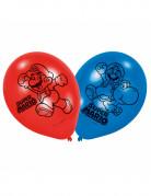 Super Mario™-Ballons Videospiel-Luftballons 6 Stück blau-rot