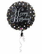 Funkelnder Geburtstagsballon Happy Birthday 43cm