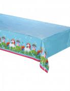Kindertischdecke Einhorn blau-bunt 120x180cm