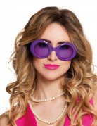 Runde Partybrille Discobrille lila