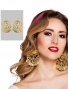 Wahrsagerinnen-Ohrringe Orient-Schmuck 2 Stück gold