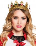 Damen-Krone mit unechten Steinen - goldfarben