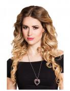 Engelsflügel-Halskette Valentinstag-Geschenkidee silber