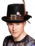 Steampunk-Hut für Erwachsene schwarz