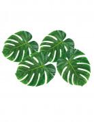 Palmenblätter Hawaiiparty-Tischdeko 4 Stück grün 33x27cm