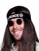Hippie-Kopfband Peace-Stirnband schwarz-weiss 92cm