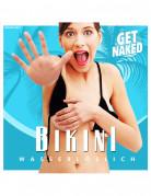 Wasserlöslicher Bikini Rachegeschenk schwarz