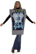 Röntgenaufnahme Kostüm 38/40 grau-bunt