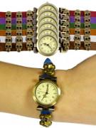 Steampunk Armbanduhr Totenköpfe bunt