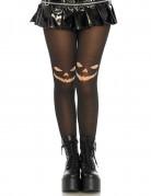 Strumpfhose mit Kürbis für Halloween schwarz