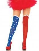 USA-Damen-Feinstrumpfhose rot-blau-weiss
