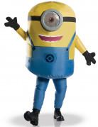 Aufblasbares Minions-Kostüm für Erwachsene gelb-blau