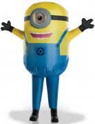 Aufblasbares Minions Kostüm Kinder blau-gelb