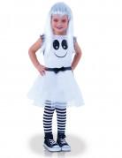 Süsser Geist Halloween-Kinderkostüm für Mädchen weiss-schwarz