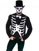 Skelett-Weste Kostüm-Accessoire für Halloween schwarz-weiss