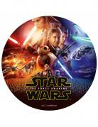 Star Wars VII™ Tortenbild Zuckerplatte Kuchen-Accessoire Lizenzware bunt 20cm