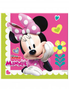 Minnie Maus Servietten Disney-Tischdeko 20 Stück pink-bunt 33x33cm