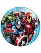 Avengers™ Pappteller Superhelden-Partydeko 8 Stück bunt