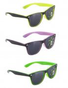 Neofarbige Spaßbrille Kostümaccessoire 50er-Jahre