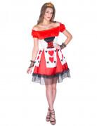 Verführerische Herzkönigin Damenkostüm rot-weiss-schwarz