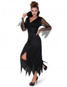 Düstere Zauberin Halloween Gothic-Kostüm für Damen schwarz